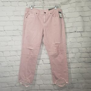 Mossimo Pink mid rise boyfriend crop jeans